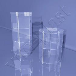 Круглая настольная витрина под товар
