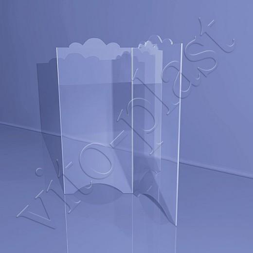Трехсторонняя фигурная подставка под меню
