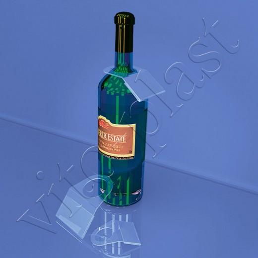 Ценникодержатель на бутылку 01-2