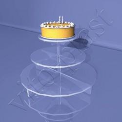 Подставка под торт на три яруса
