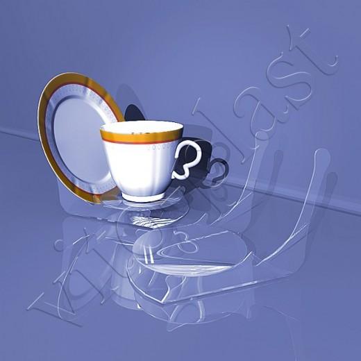 Подставка под чашку и блюдце